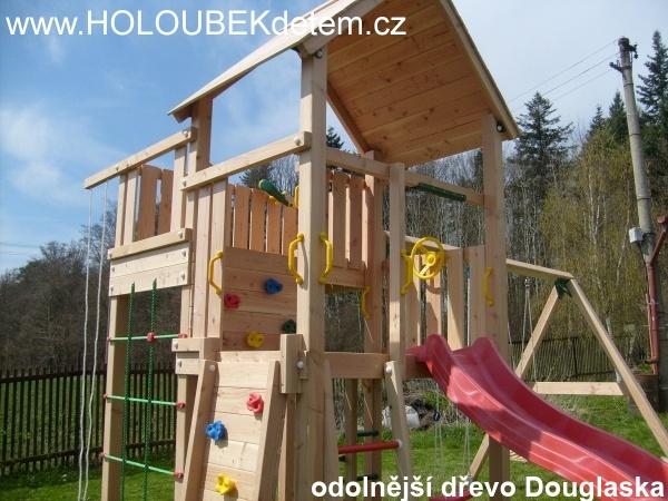 Ukázky z realizací odolnější dřevo Douglaska pro dětská hřiště a pískoviště