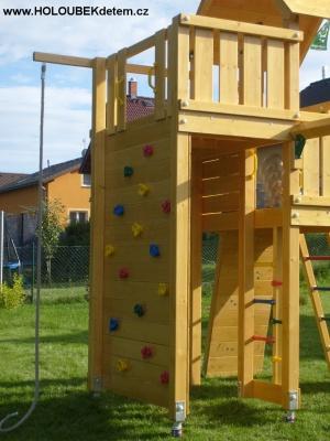 PALACE se SWING modulem, rozířená o lezeckou stěnu, provazovou síť a šplhací lano