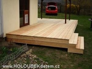 dřevěné zahradní terasy