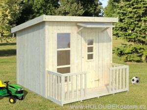 HARRY 3,1 m2 dřevěný domek pro děti jako stavebnice pro stavbu svépomocí