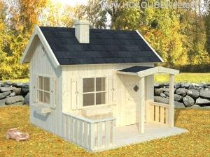 OTTO 3,6 m2 dřevěný domek pro děti jako stavebnice pro stavbu svépomocí