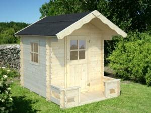 SAM 2,4 m2 dřevěný domek pro děti jako stavebnice pro stavbu svépomocí