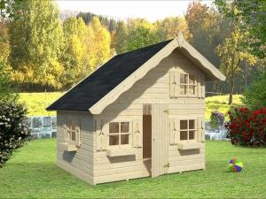 TOM 3,8 m2 dřevěný domek pro děti jako stavebnice pro stavbu svépomocí