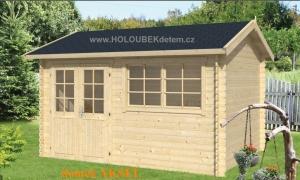 AKSEL dřevěný domek jako stavebnice pro stavbu svépomocí