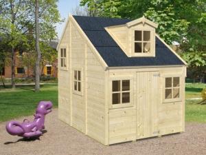 ALICE  dřevěný domek pro děti jako stavebnice pro stavbu svépomocí