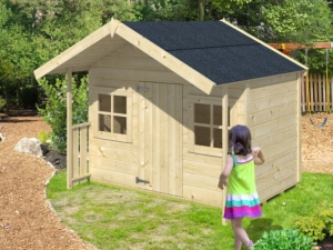 ALADDIN dřevěný domek pro děti jako stavebnice pro stavbu svépomocí