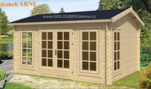 ARNE dřevěný domek jako stavebnice pro stavbu svépomocí