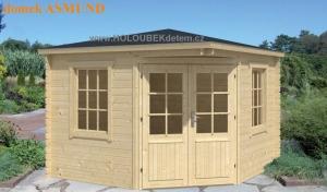 ASMUND dřevěný domek jako stavebnice pro stavbu svépomocí
