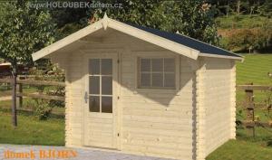 BJORN dřevěný domek jako stavebnice pro stavbu svépomocí