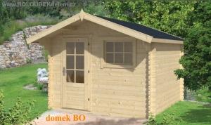 BO dřevěný domek jako stavebnice pro stavbu svépomocí