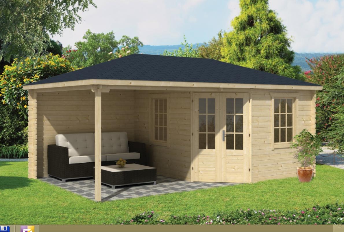 CHRISTOFFER dřevěný domek jako stavebnice pro stavbu svépomocí