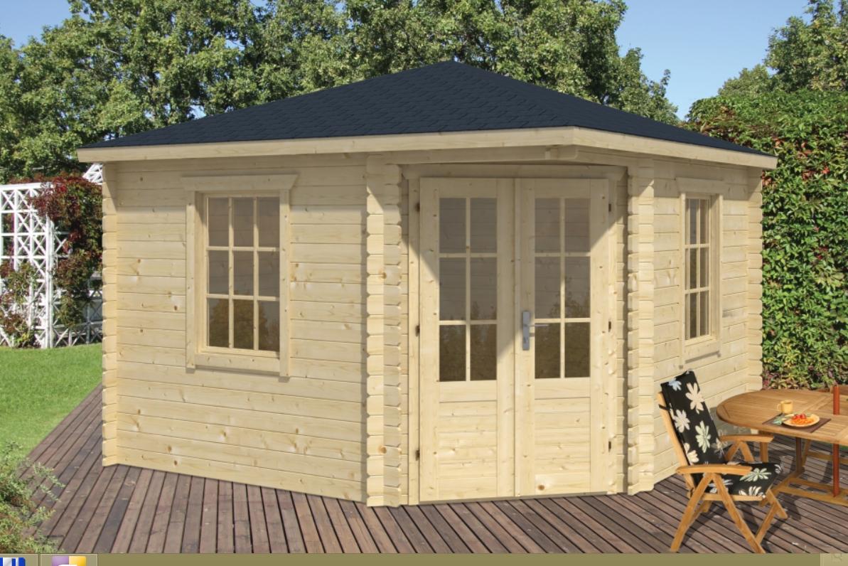 DAGMAR dřevěný domek jako stavebnice pro stavbu svépomocí