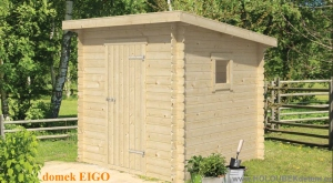 EIGO dřevěný domek jako stavebnice pro stavbu svépomocí