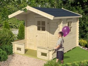 FINLAND dřevěný domek pro děti jako stavebnice pro stavbu svépomocí