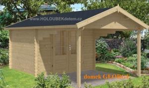 GEORGE dřevěný domek jako stavebnice pro stavbu svépomocí