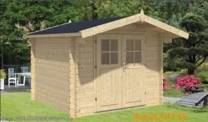 GITTE dřevěný domek jako stavebnice pro stavbu svépomocí