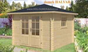 HALVAR dřevěný domek jako stavebnice pro stavbu svépomocí