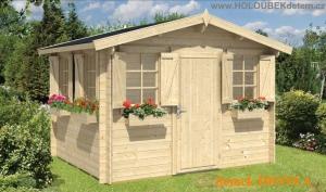 IDONEA dřevěný domek jako stavebnice pro stavbu svépomocí