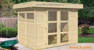 KAIJSA dřevěný domek jako stavebnice pro stavbu svépomocí