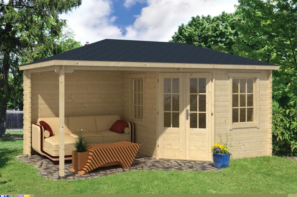 KENNET dřevěný domek jako stavebnice pro stavbu svépomocí