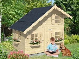 LOLA dřevěný domek pro děti jako stavebnice pro stavbu svépomocí