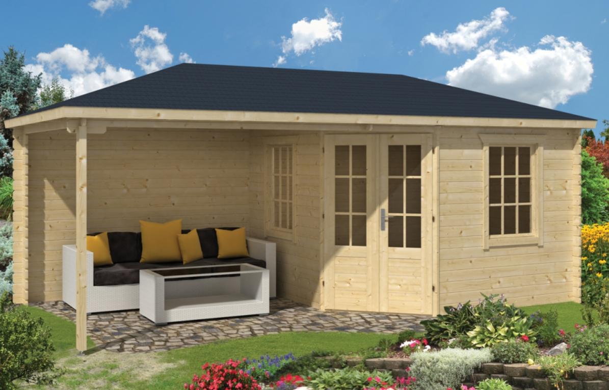 MARKKU dřevěný domek jako stavebnice pro stavbu svépomocí