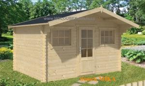 MIKA dřevěný domek jako stavebnice pro stavbu svépomocí