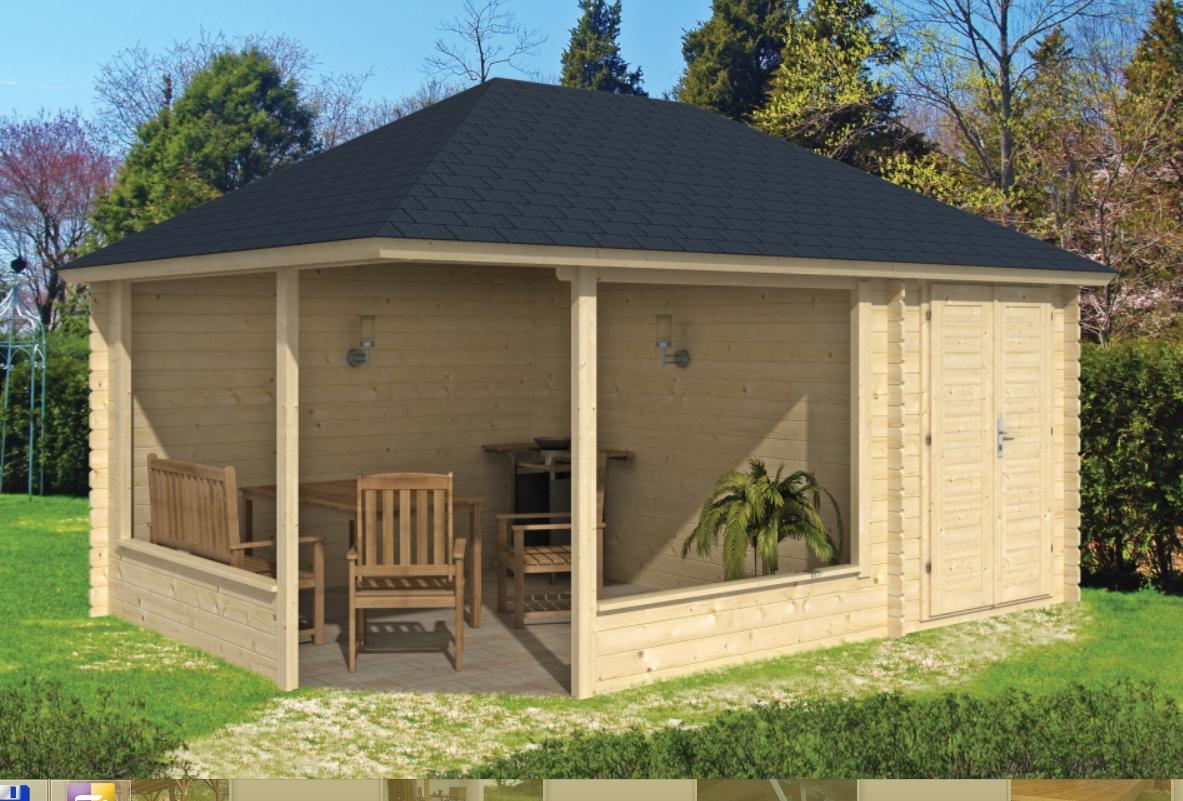 MORTEN dřevěný domek jako stavebnice pro stavbu svépomocí