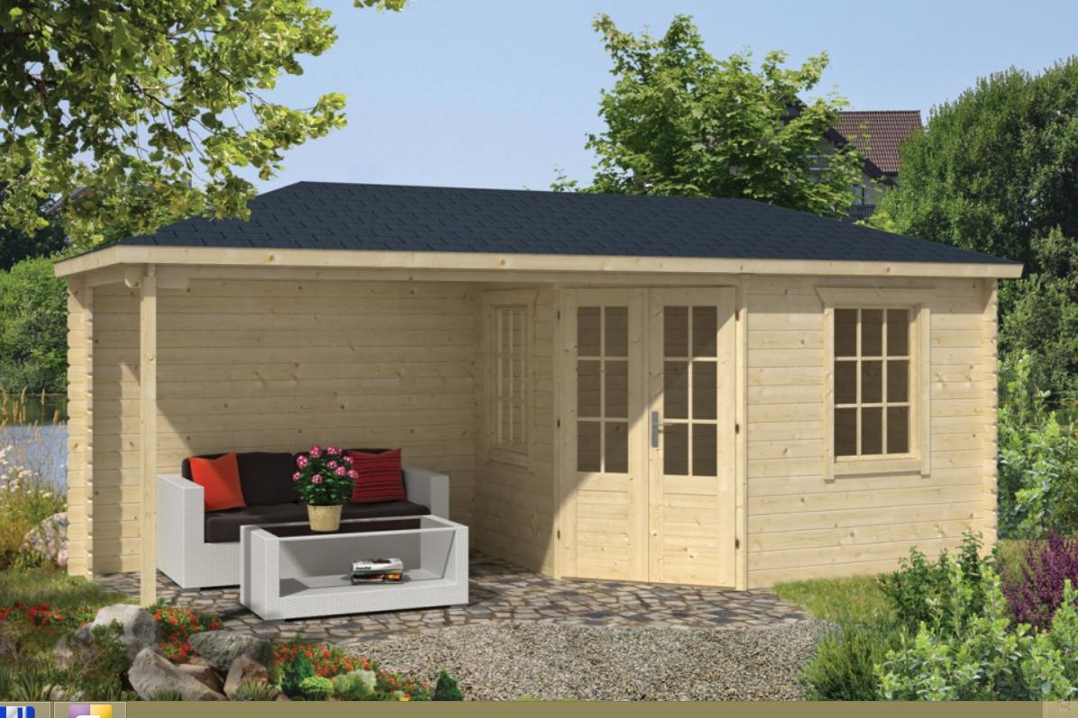 NIKLAS dřevěný domek jako stavebnice pro stavbu svépomocí