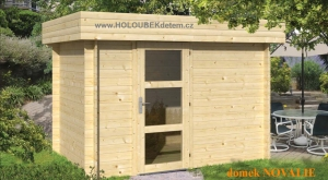NOVALIE dřevěný domek jako stavebnice pro stavbu svépomocí