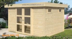 OSCAR dřevěný domek jako stavebnice pro stavbu svépomocí