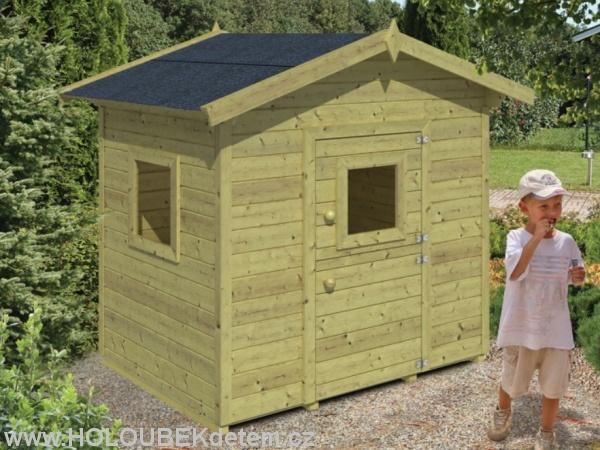 PIPPI dřevěný domek pro děti jako stavebnice pro stavbu svépomocí