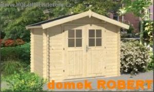 ROBERT dřevěný domek jako stavebnice pro stavbu svépomocí