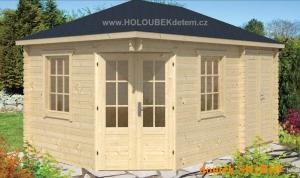 SIGRID dřevěný domek jako stavebnice pro stavbu svépomocí