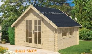 SKOV dřevěný domek jako stavebnice pro stavbu svépomocí